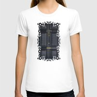 221b T-shirts featuring Classic Old sherlock holmes 221b door iPhone 4 4s 5 5c, ipod, ipad, tshirt, mugs and pillow case by Three Second