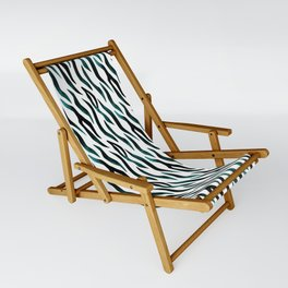 Here Kitty Kitty - Teal Sling Chair