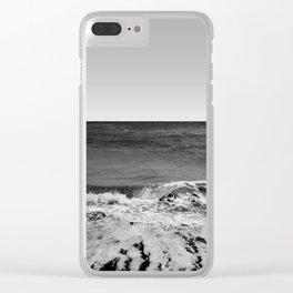 BEACH DAYS XVI BW Clear iPhone Case