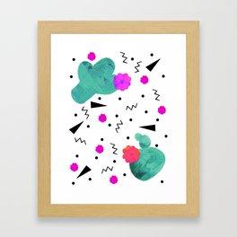 Hello Cactus White Background Framed Art Print