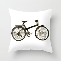 bicycle Throw Pillows featuring Bicycle by chyworks