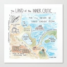 Land of the Inner Critic Canvas Print