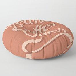 Peanut Butter Vibes Floor Pillow