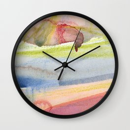 Dusty Pink and Blue Abstract 021 Wall Clock