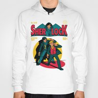 tintin Hoodies featuring Sherlock Comic by harebrained