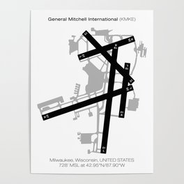 General Mitchell International (KMKE) Poster