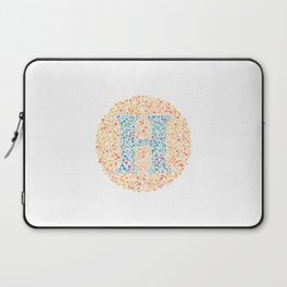 """H"" Eye Test Letter Circle Laptop Sleeve"