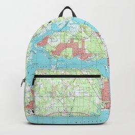 Biloxi Mississippi Map (1992) Backpack