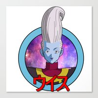 dbz Canvas Prints featuring DBZ - Whis by itsjustmilk