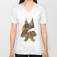 monster V-neck T-shirts featuring MONSTER by Tyson Bodnarchuk