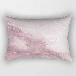 Pastel pink burgundy elegant abstract marble pattern Rectangular Pillow