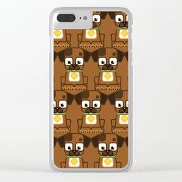 Super cute animals - Cute Brown Puppy Dog Clear iPhone Case