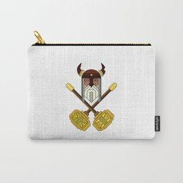 Golden Viking Minimal Art Carry-All Pouch