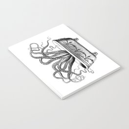 Tentacles in the Tub | Octopus | Black and White Notebook