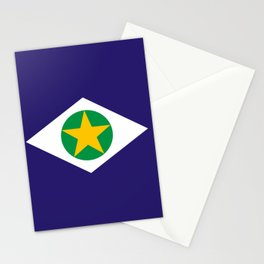 flag of mato grosso Stationery Cards