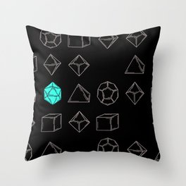 Dungeons and Dragons Dice Throw Pillow