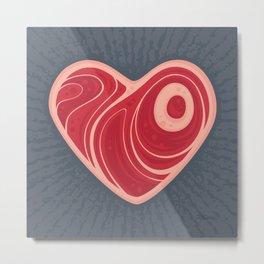 Meat Heart Metal Print