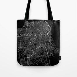 San Francisco Black Map Tote Bag