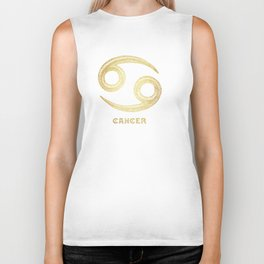 Cancer Zodiac Sign Biker Tank