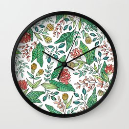 Wildflower Pattern - Full Color Wall Clock