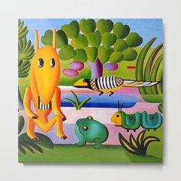 Classical Masterpiece 'A Cuca' by Tarsila do Amaral Metal Print