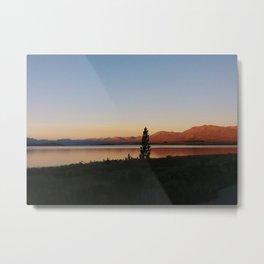 Sunset at Lake Tekapo Metal Print