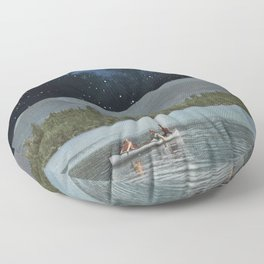 Drifting in Space Floor Pillow