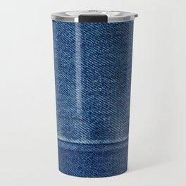 Blue Jean Texture V4 Travel Mug