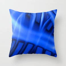 Nothing But Blue #3 Throw Pillow