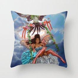 Swing Fairy Throw Pillow
