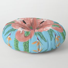 Flamingo Tropical Mandala Floor Pillow