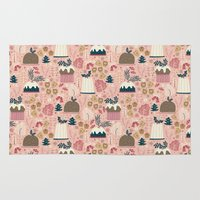 holiday Area & Throw Rugs featuring Holiday Delights by Anna Deegan