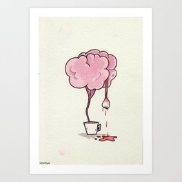 Tea Brain Art Print