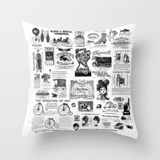 Vintage Victorian Ads Throw Pillow