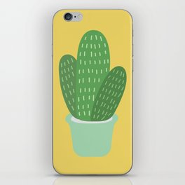 Cute Cactus Illustration iPhone Skin