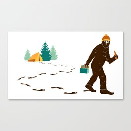 A Hairy Camp Robber Canvas Print