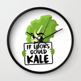 If Looks Could Kale Kale Art for Vegans on Diet Light Wall Clock