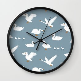 Summertime Swans Wall Clock