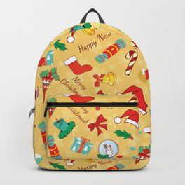 Christmas candy,bells and santa hat SB5 Backpack