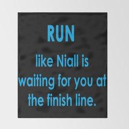 Run like Niall Throw Blanket