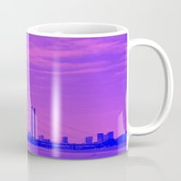 cityscape Mugs featuring Cityscape by DuniStudioDesign