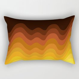 70s Ripple Rectangular Pillow