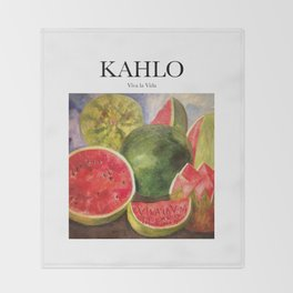 Kahlo - Viva la Vida Throw Blanket
