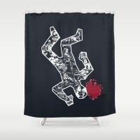noir Shower Curtains featuring Crime Noir by Peter Kramar