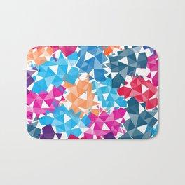 Colorful geometric Shapes Bath Mat