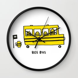 Bee Bus Wall Clock
