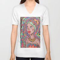african V-neck T-shirts featuring African by havana