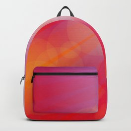 Birds, seagulls silhouette on pink background, sunset, dawn. Backpack