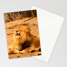 Yawn in Bronx Zoo Stationery Cards
