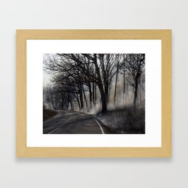 Fire Side Framed Art Print